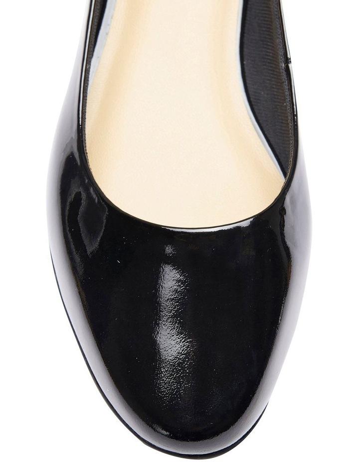 Regal Black Patent Heeled Shoes image 7
