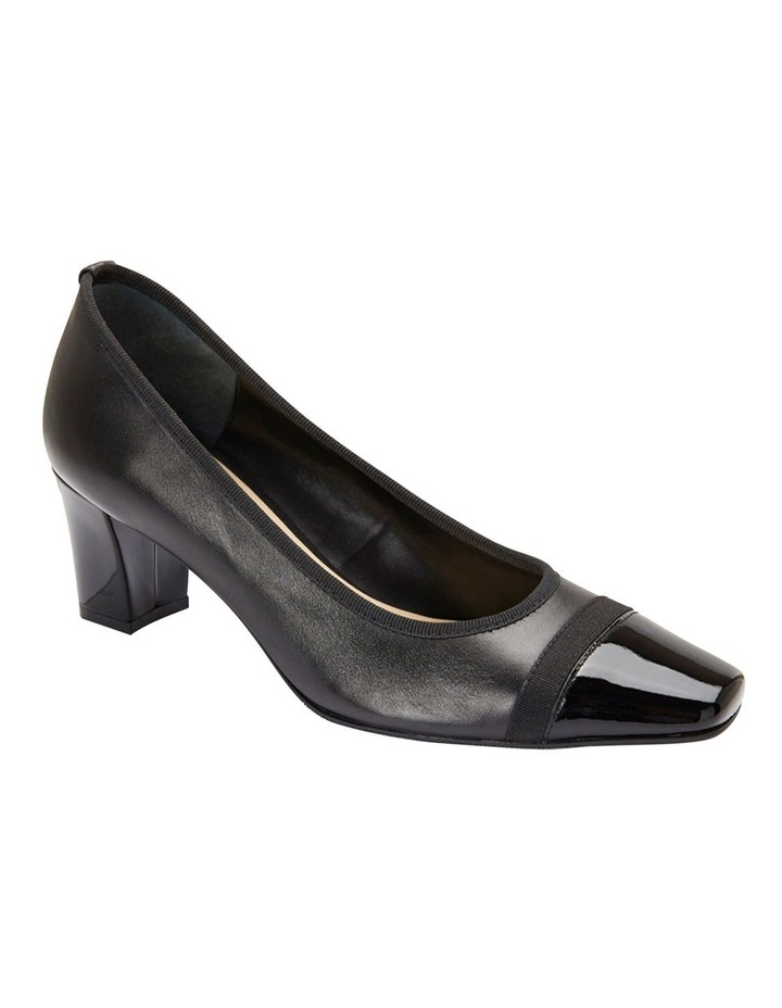 Network Black Patent/ Glove Heeled Shoes image 2