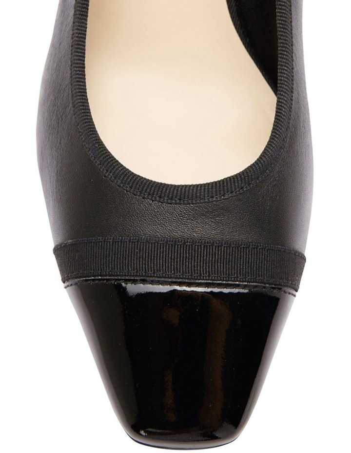 Network Black Patent/ Glove Heeled Shoes image 6