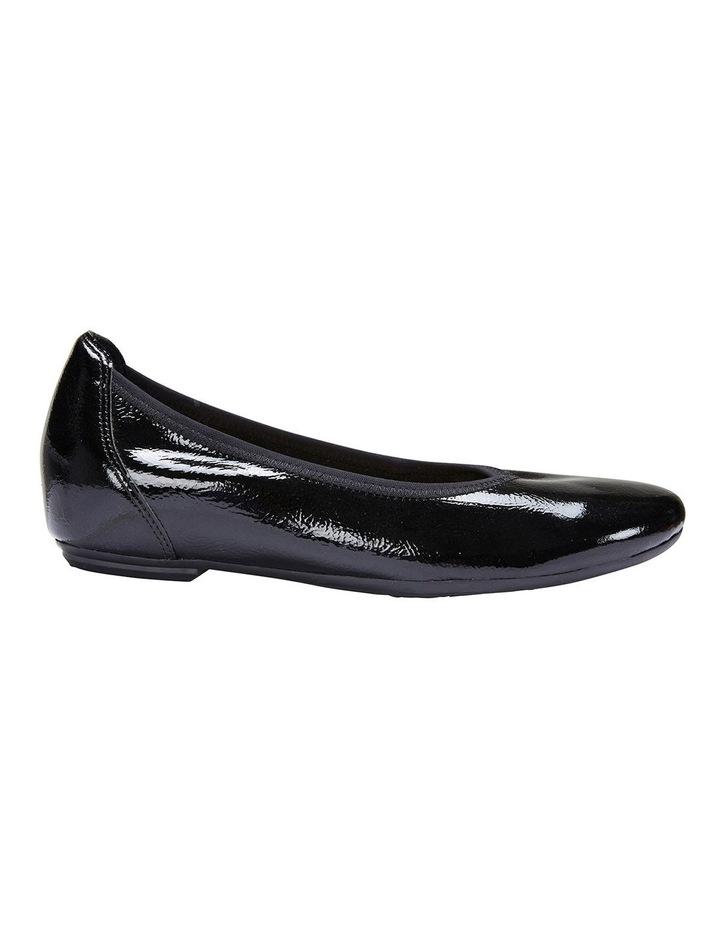 Pamper Black Crinkle Patent Flat Shoes image 1