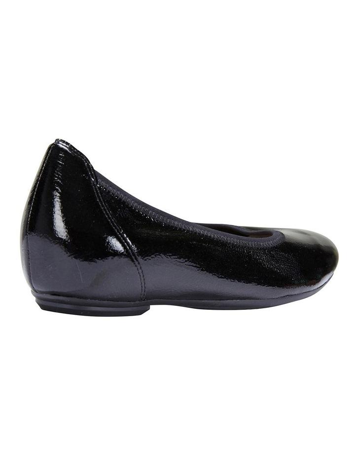 Pamper Black Crinkle Patent Flat Shoes image 4