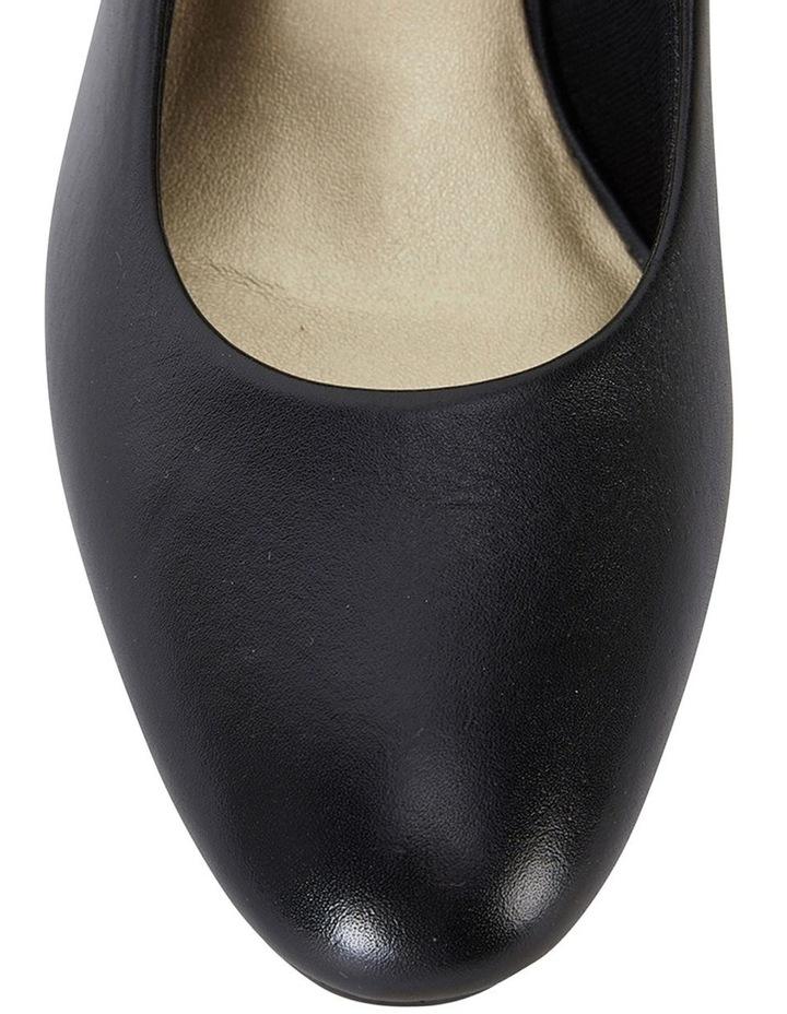 Marley Black Glove Heeled Shoes image 5