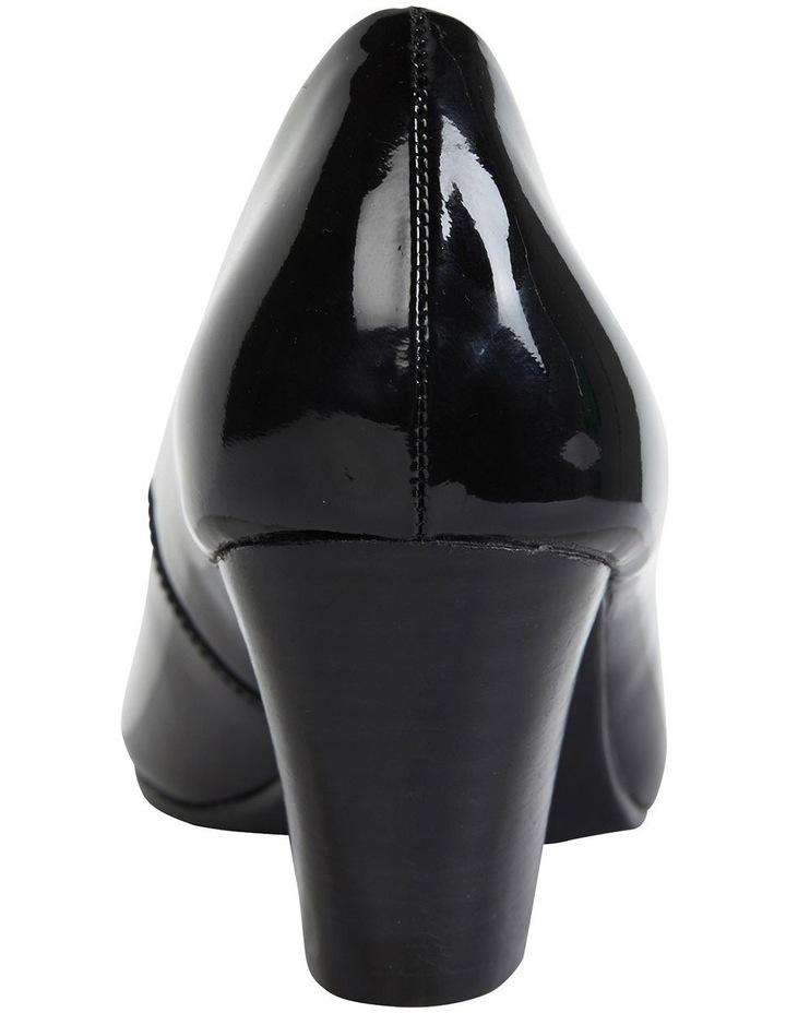 Marley Black Patent Heeled Shoes image 4