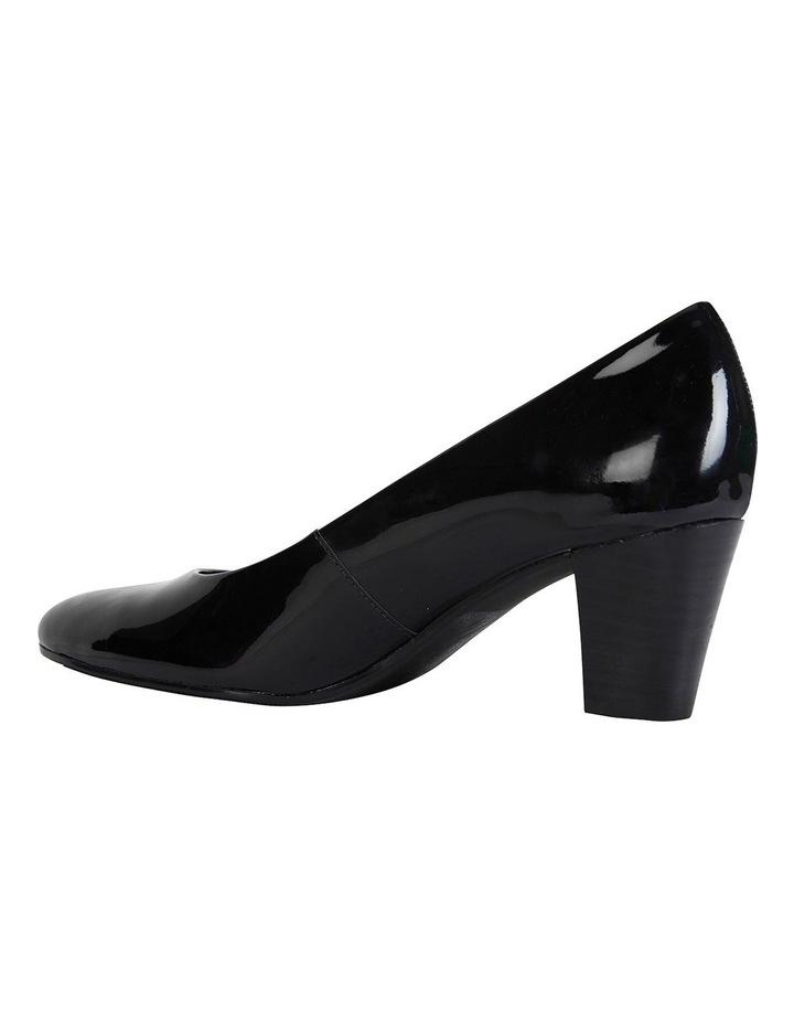 Marley Black Patent Heeled Shoes image 5