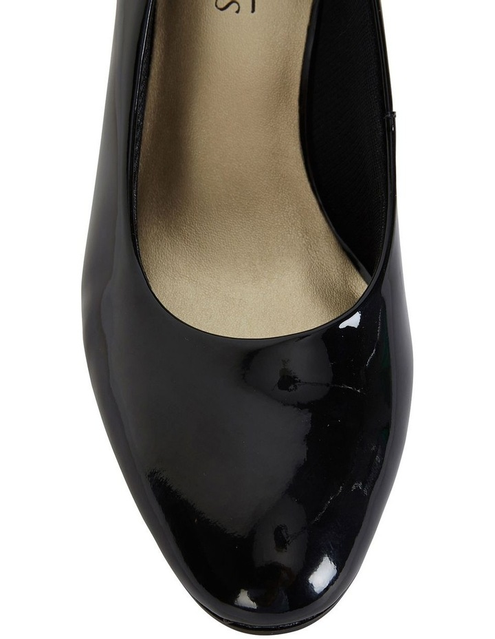 Marley Black Patent Heeled Shoes image 6