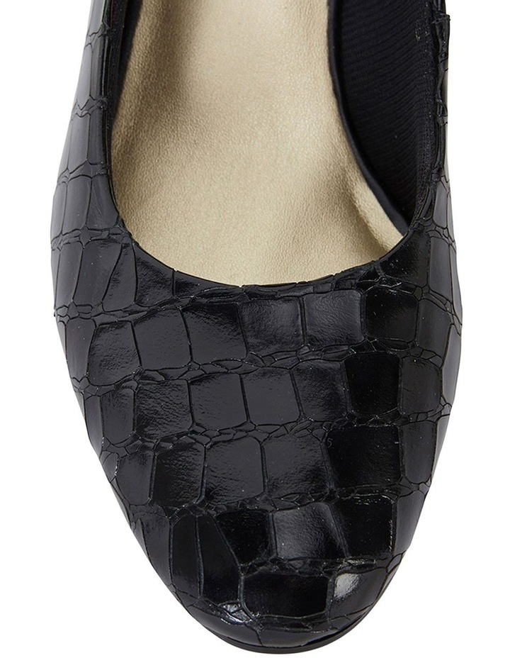 Marley Black Croc Print Heeled Shoes image 5