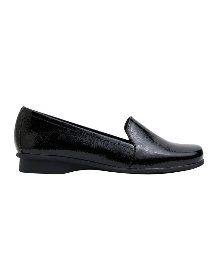 Knox Black Crinkle Patent Flat Shoes image 1