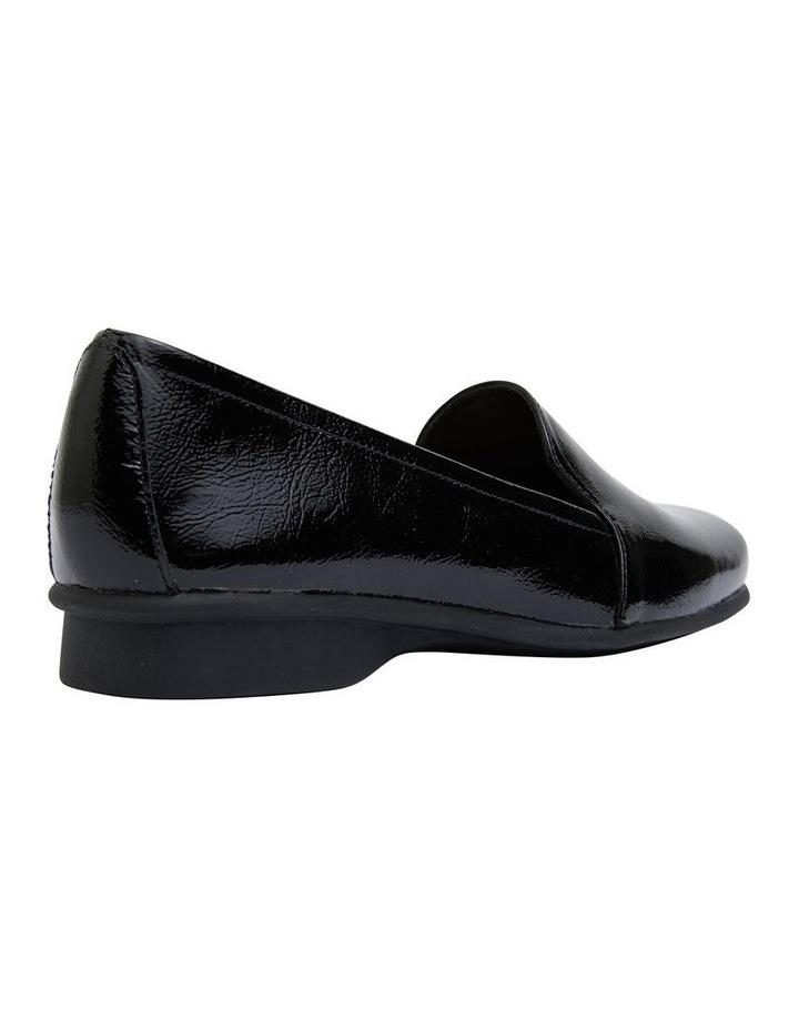 Knox Black Crinkle Patent Flat Shoes image 2