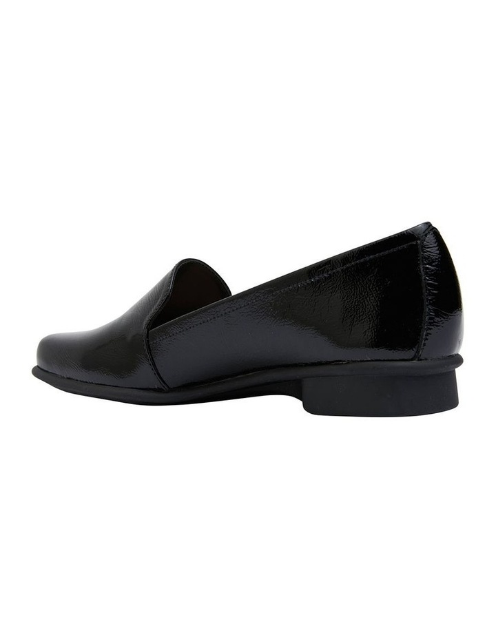 Knox Black Crinkle Patent Flat Shoes image 4