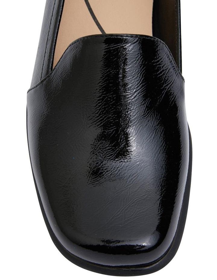 Knox Black Crinkle Patent Flat Shoes image 6