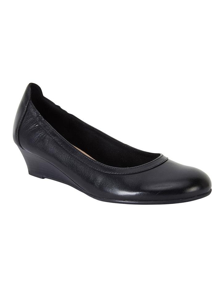 Elton Black Glove Heeled Shoes image 2