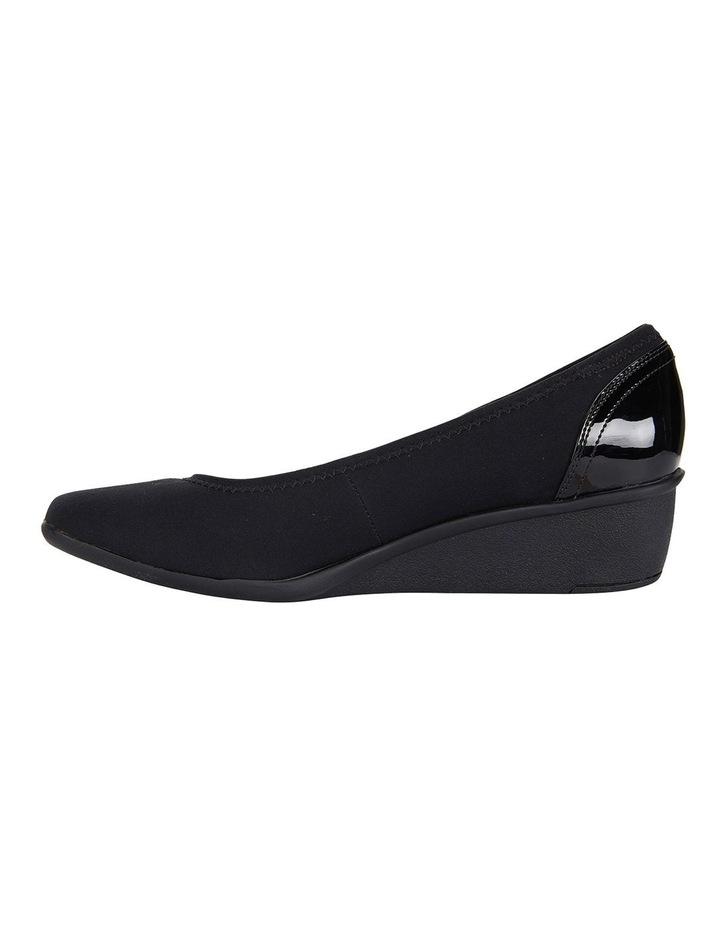 Prague Black Fabric Heeled Shoes image 3