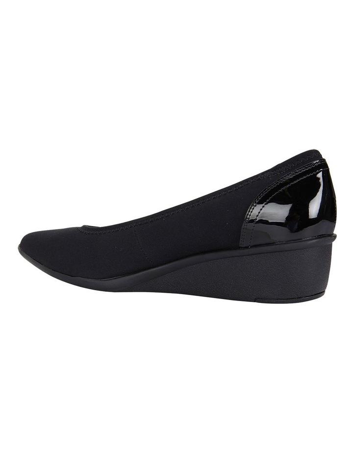 Prague Black Fabric Heeled Shoes image 5
