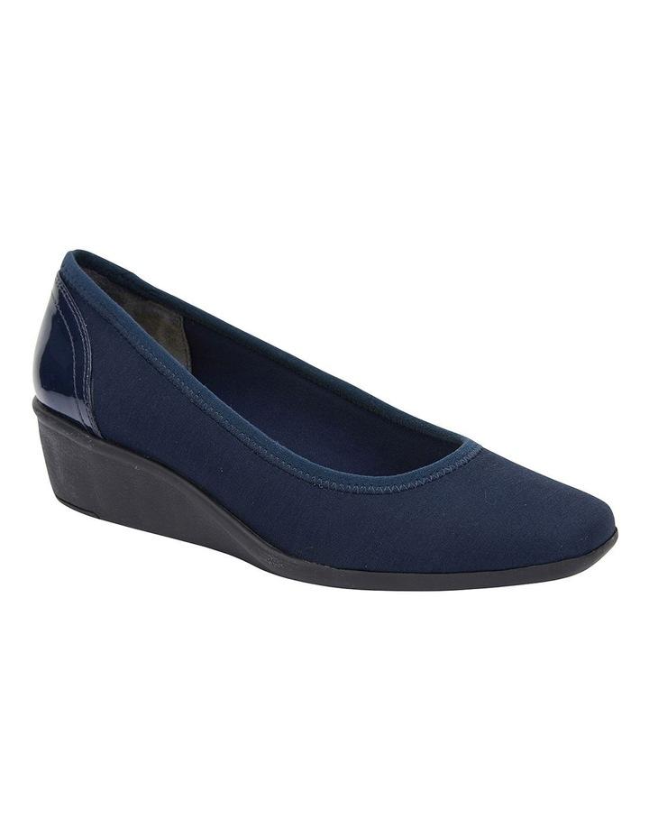Prague Navy Fabric Heeled Shoes image 2