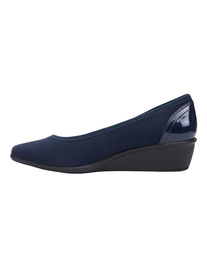 Prague Navy Fabric Heeled Shoes image 3