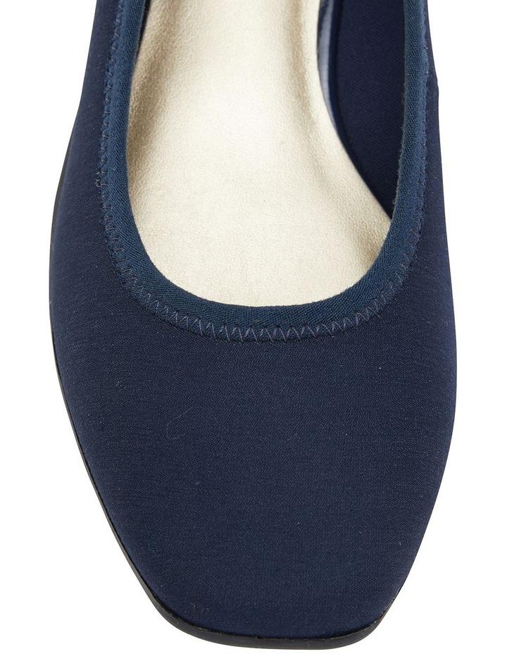 Prague Navy Fabric Heeled Shoes image 6
