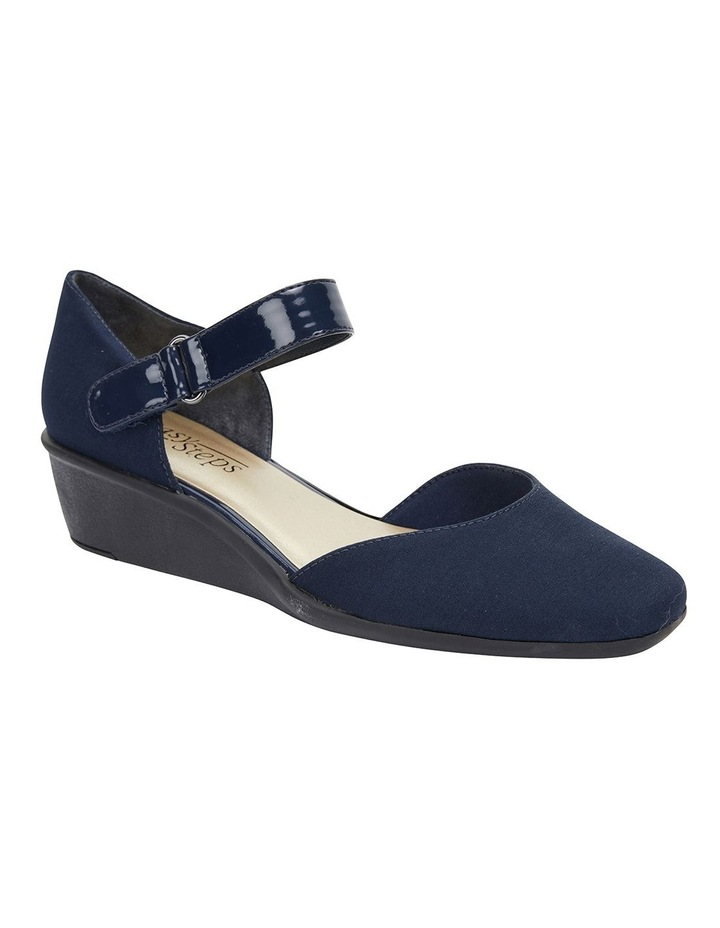 Patriot Navy Fabric Heeled Shoes image 2