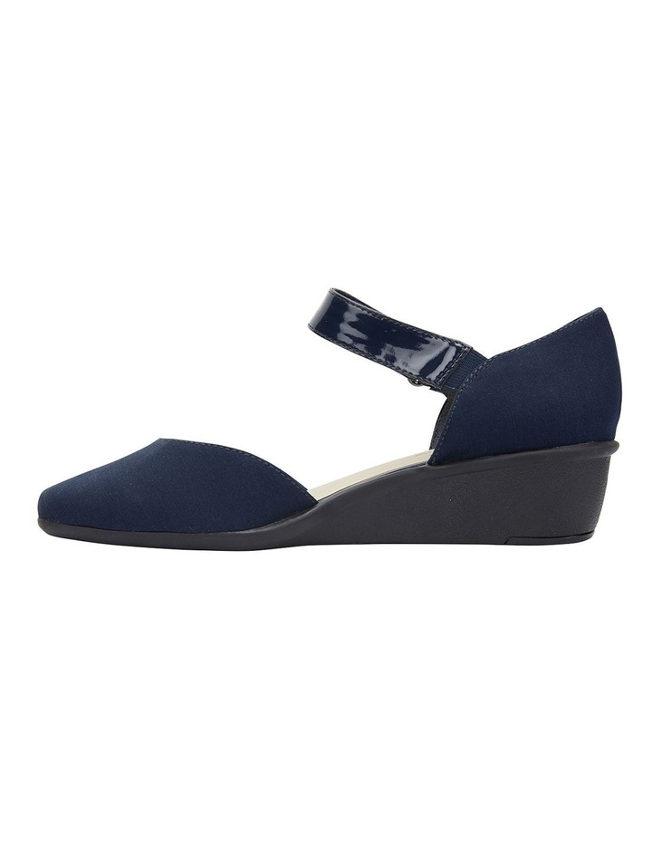 Patriot Navy Fabric Heeled Shoes image 3