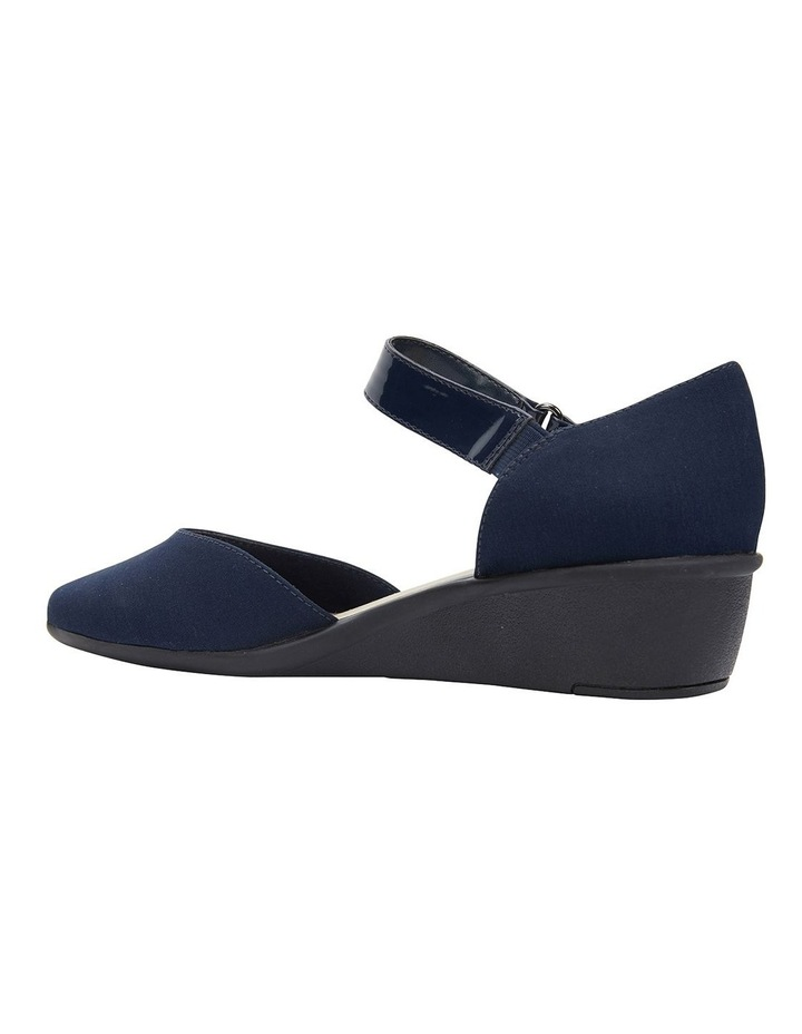 Patriot Navy Fabric Heeled Shoes image 5