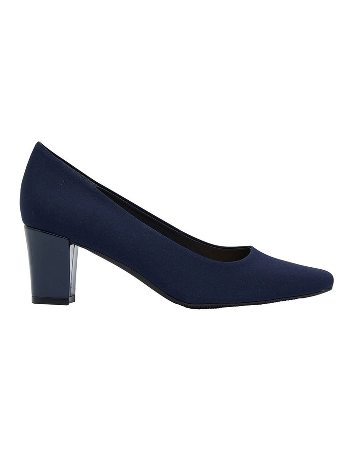 Nicole Navy Fabric Heeled Shoes image 1