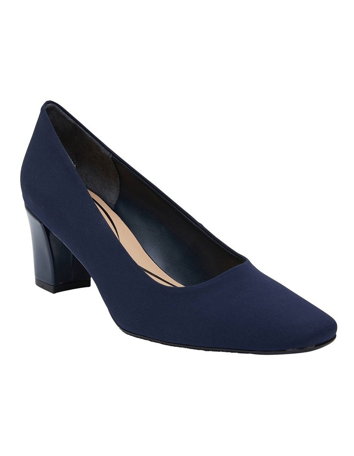 Nicole Navy Fabric Heeled Shoes image 2