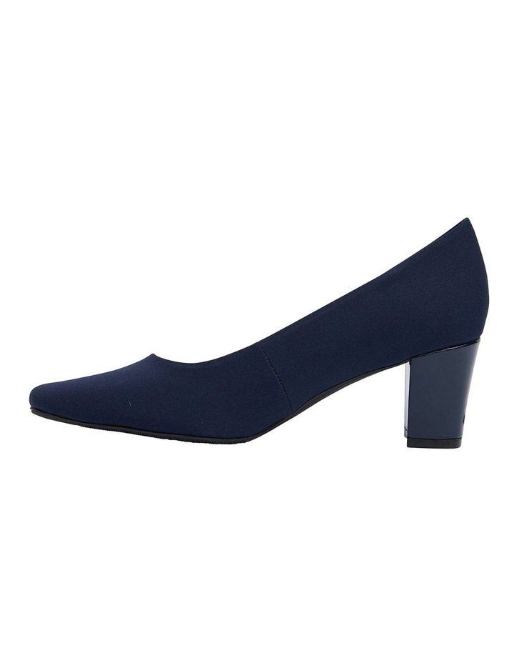 Nicole Navy Fabric Heeled Shoes image 3
