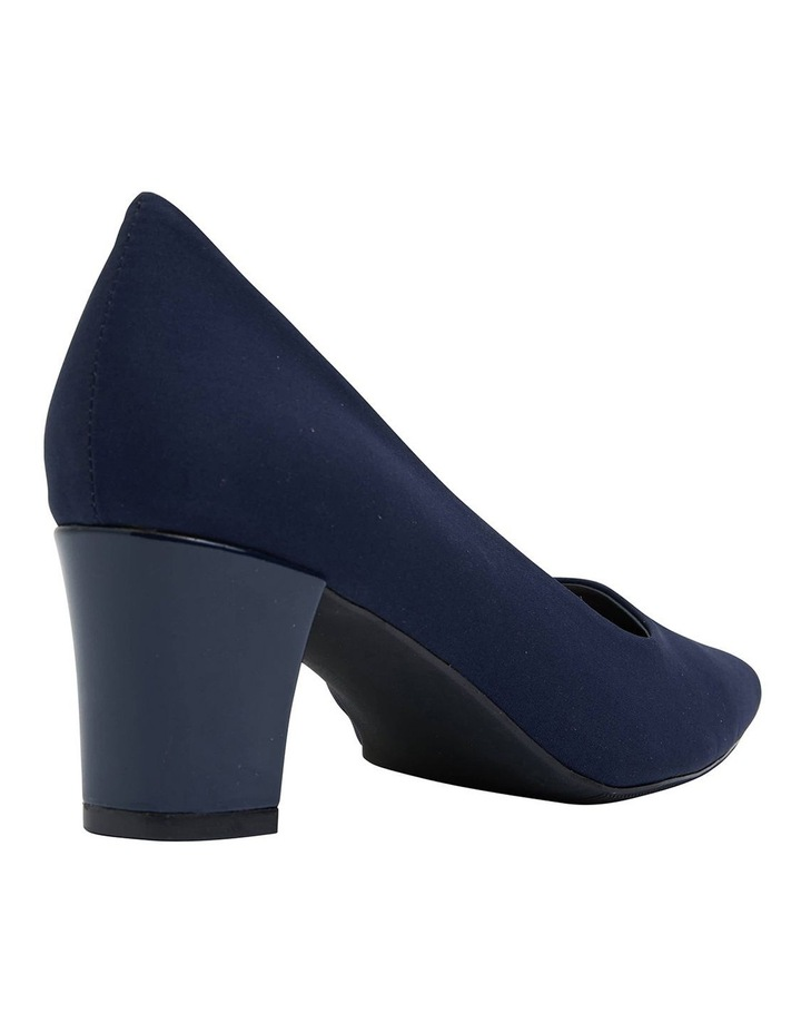 Nicole Navy Fabric Heeled Shoes image 4