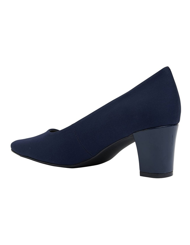 Nicole Navy Fabric Heeled Shoes image 5