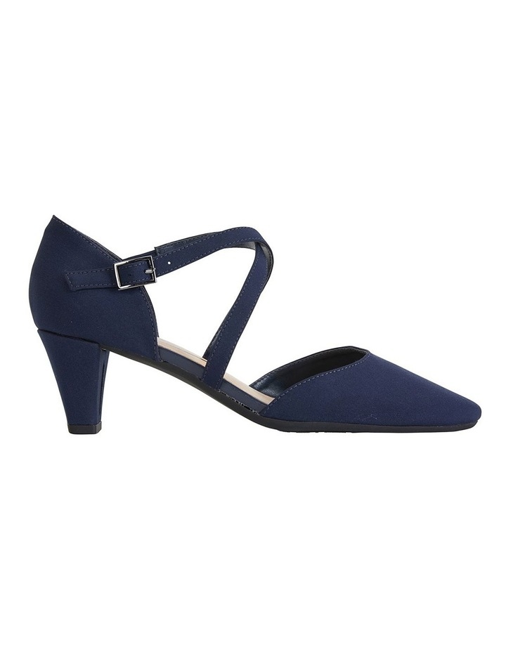 Adison Navy Fabric Heeled Shoes image 1