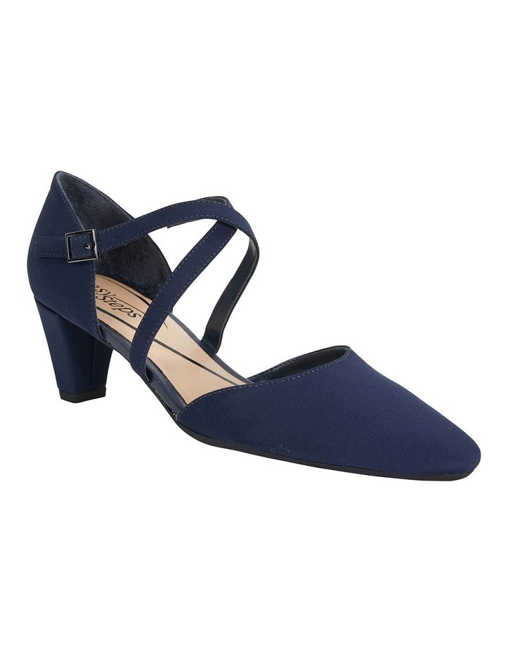 Adison Navy Fabric Heeled Shoes image 2