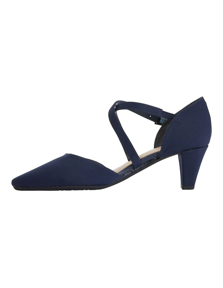 Adison Navy Fabric Heeled Shoes image 3