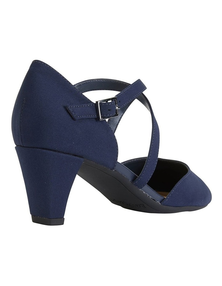 Adison Navy Fabric Heeled Shoes image 4