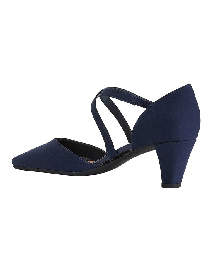 Adison Navy Fabric Heeled Shoes image 5