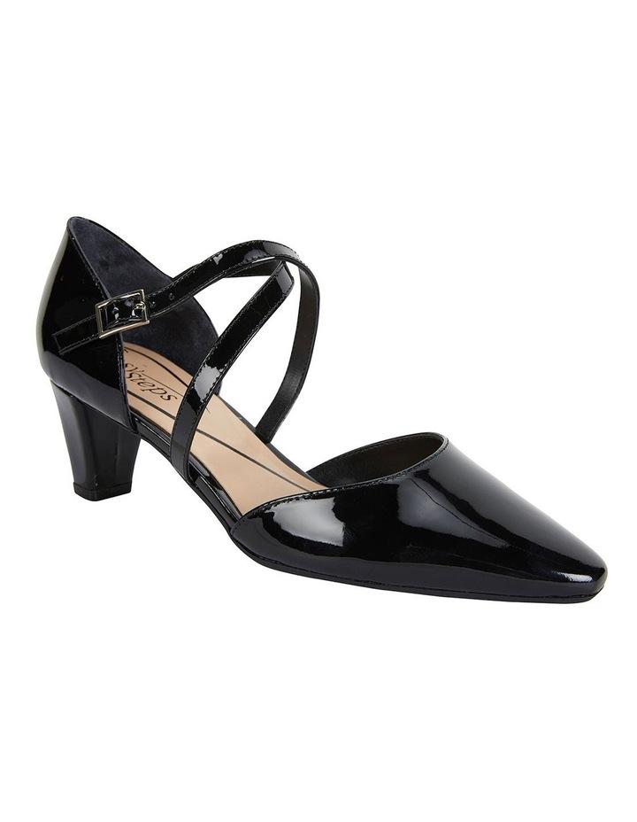 Adison Black Patent Heeled Shoes image 2