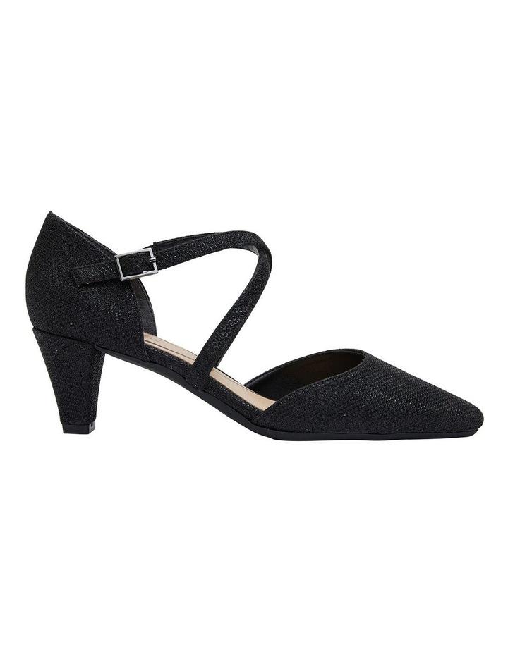 Adison Black Shimmer Heeled Shoes image 1