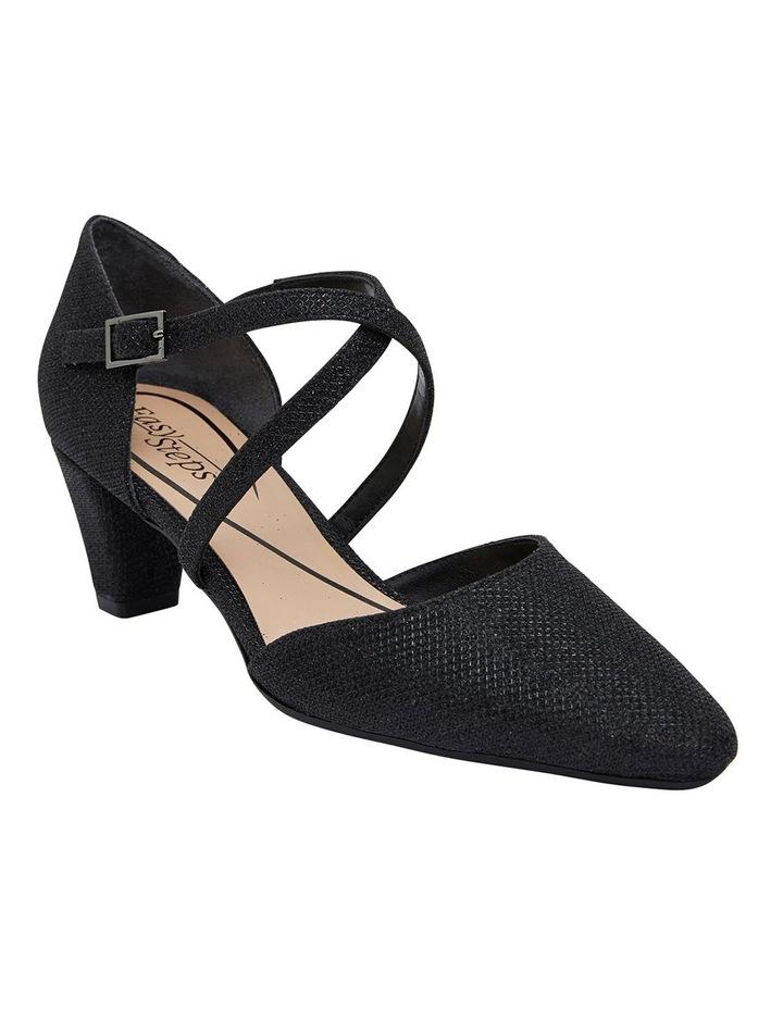 Adison Black Shimmer Heeled Shoes image 2