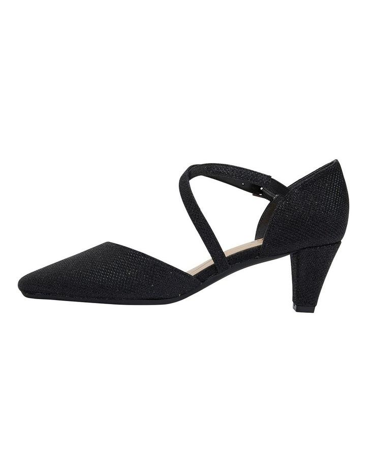 Adison Black Shimmer Heeled Shoes image 3