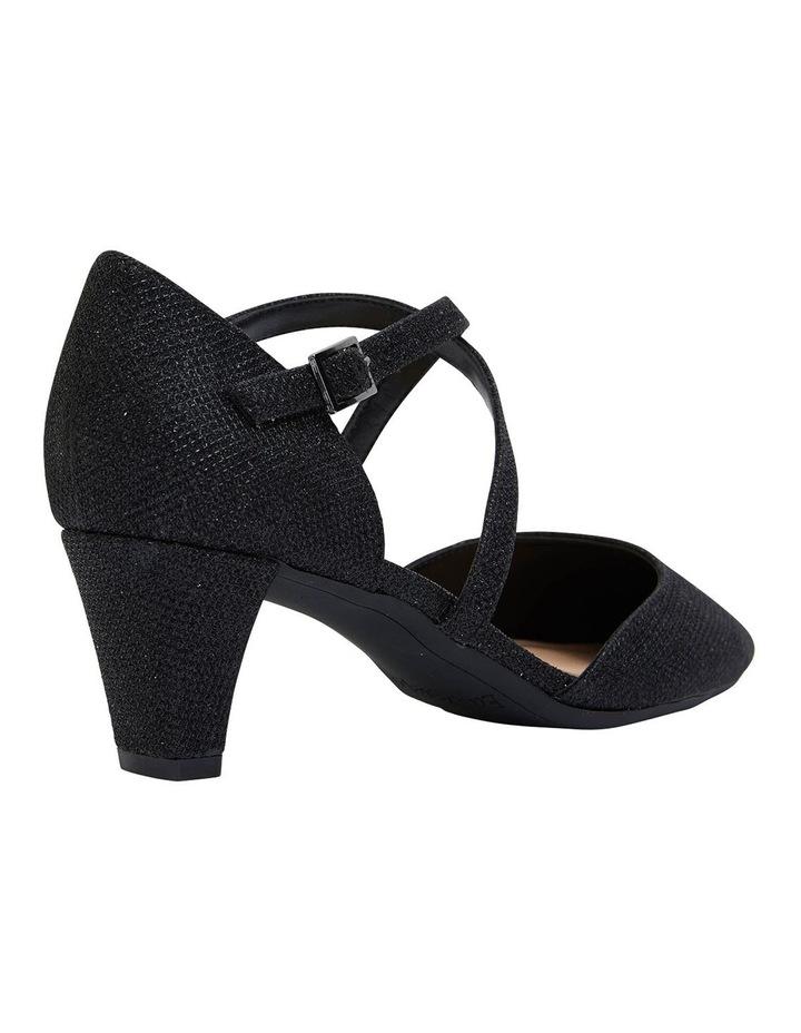 Adison Black Shimmer Heeled Shoes image 4