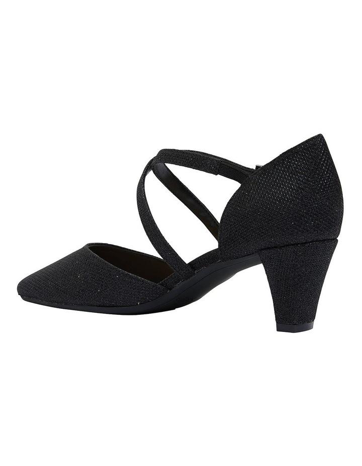 Adison Black Shimmer Heeled Shoes image 5