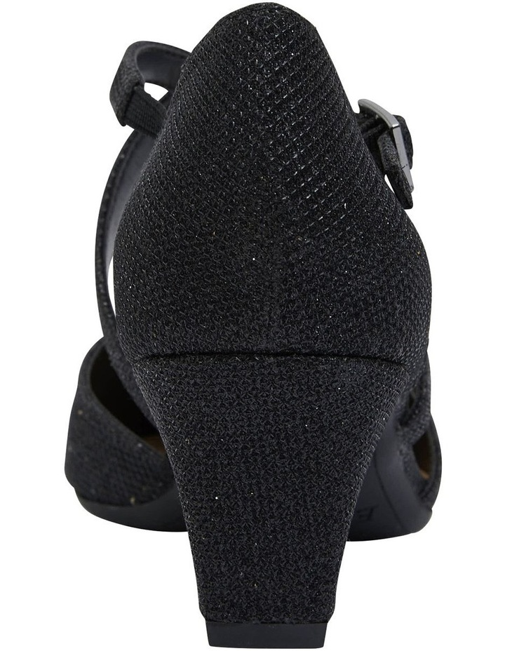 Adison Black Shimmer Heeled Shoes image 6
