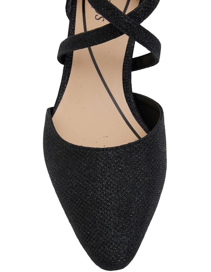 Adison Black Shimmer Heeled Shoes image 7