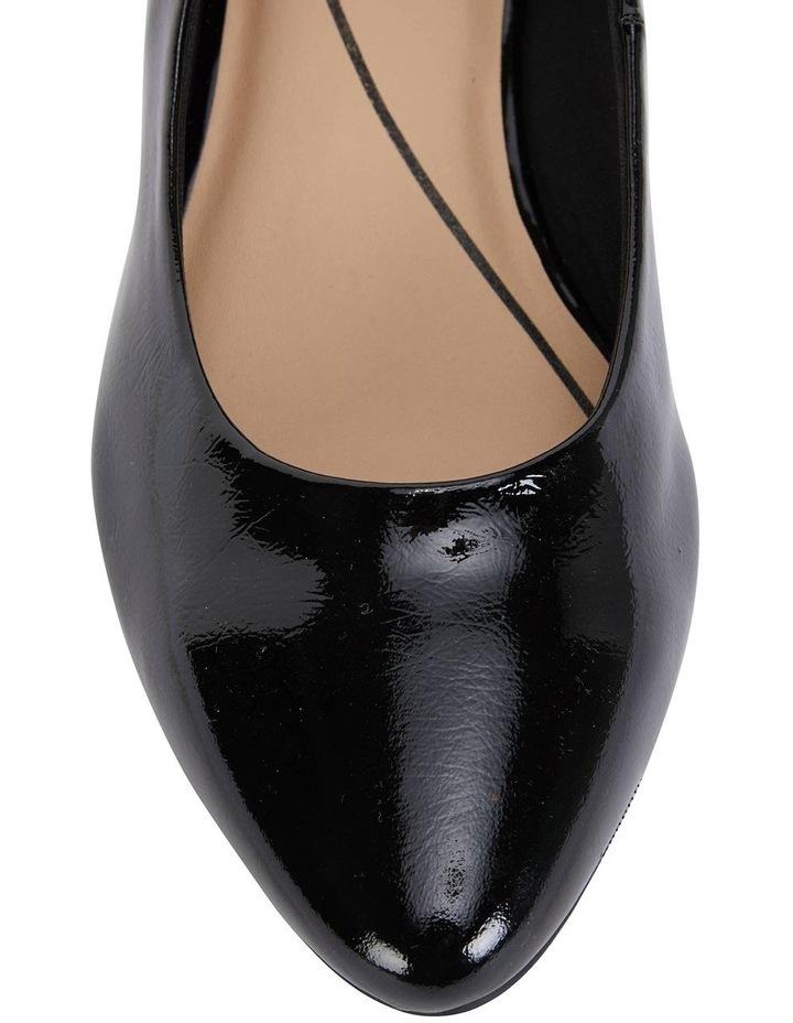 Janine Black Crinkle Patent Heeled Shoes image 7