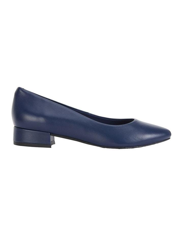 Janine Navy Glove Heeled Shoes image 1