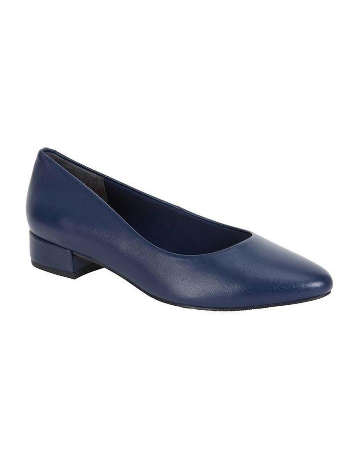Janine Navy Glove Heeled Shoes image 2
