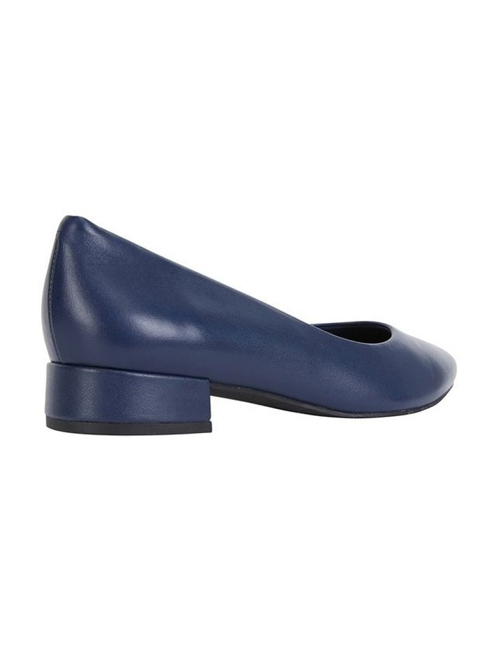 Janine Navy Glove Heeled Shoes image 3