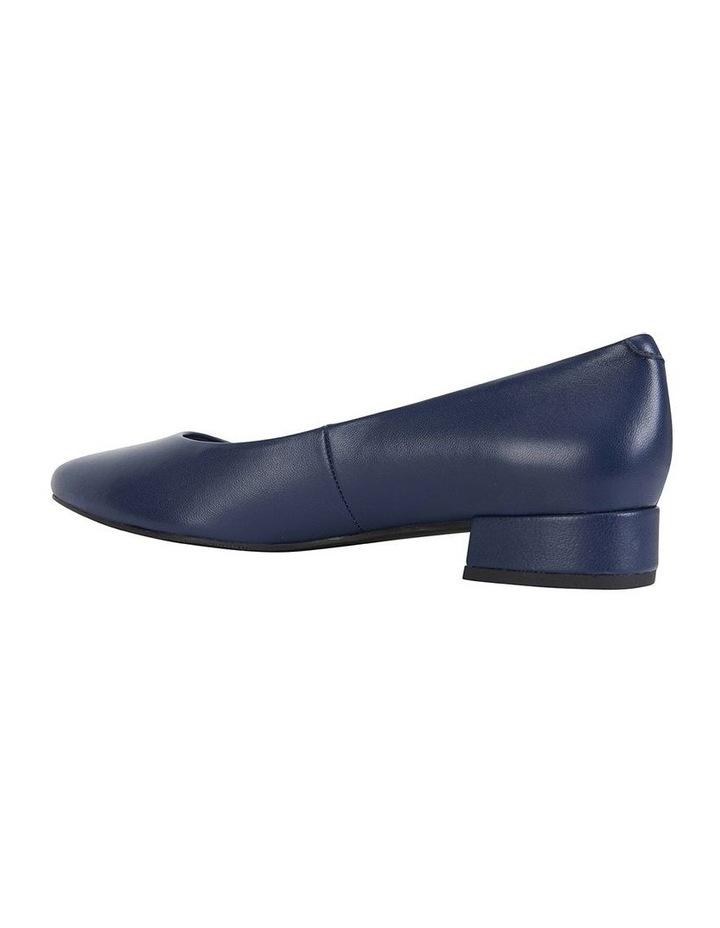 Janine Navy Glove Heeled Shoes image 4