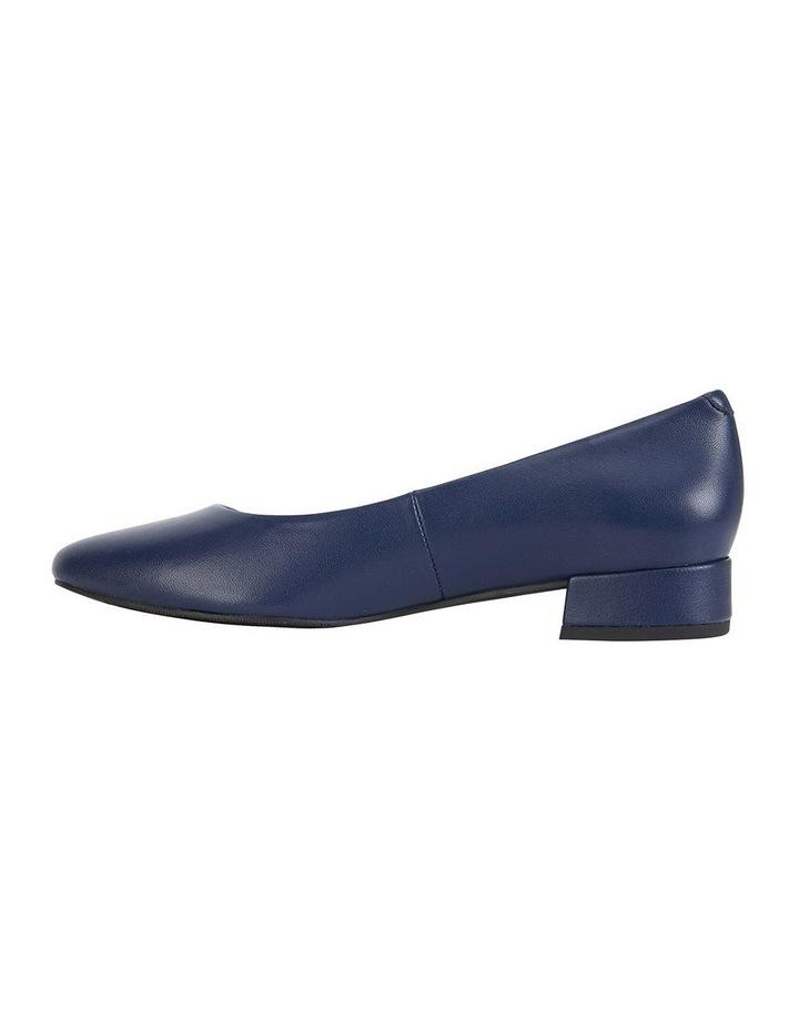 Janine Navy Glove Heeled Shoes image 5