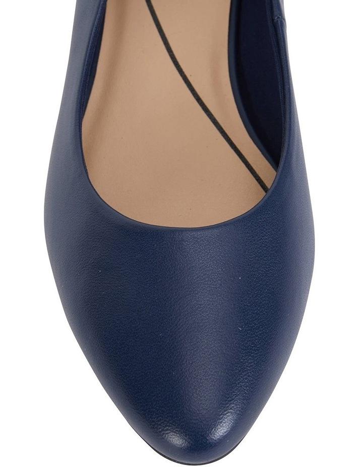 Janine Navy Glove Heeled Shoes image 7