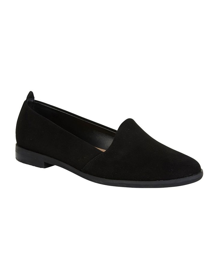 Kelly Black Suede Flat Shoes image 2