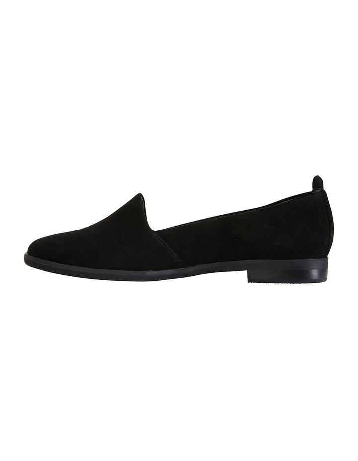Kelly Black Suede Flat Shoes image 3